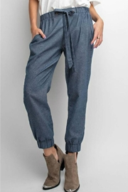 easel Denim Jogger Pant - Product Mini Image