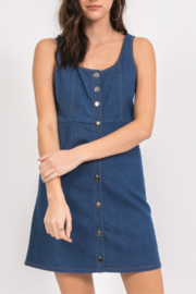 Very J Denim Jumper Dress - Product Mini Image