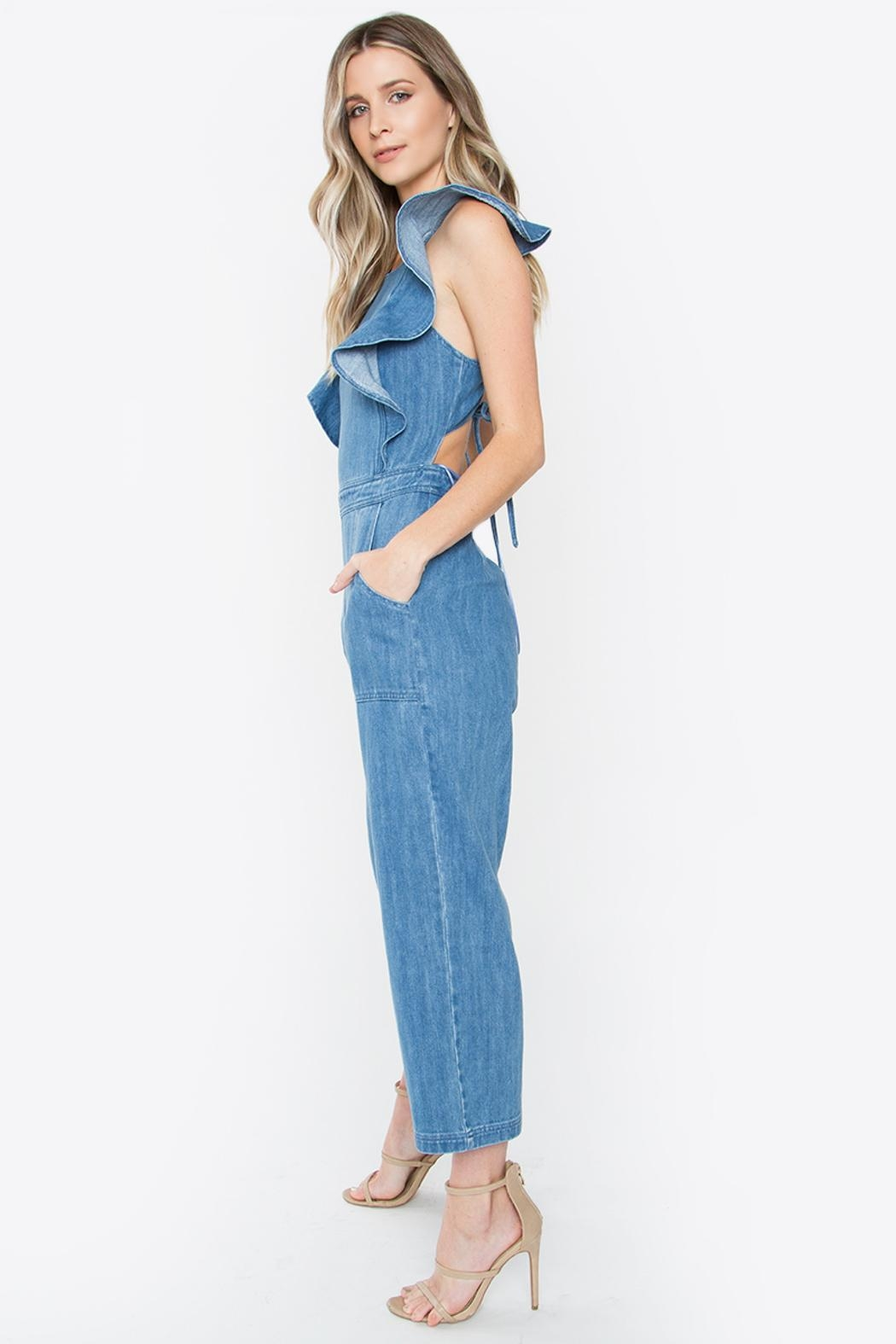 Sugar Lips Denim Jumpsuit - Side Cropped Image