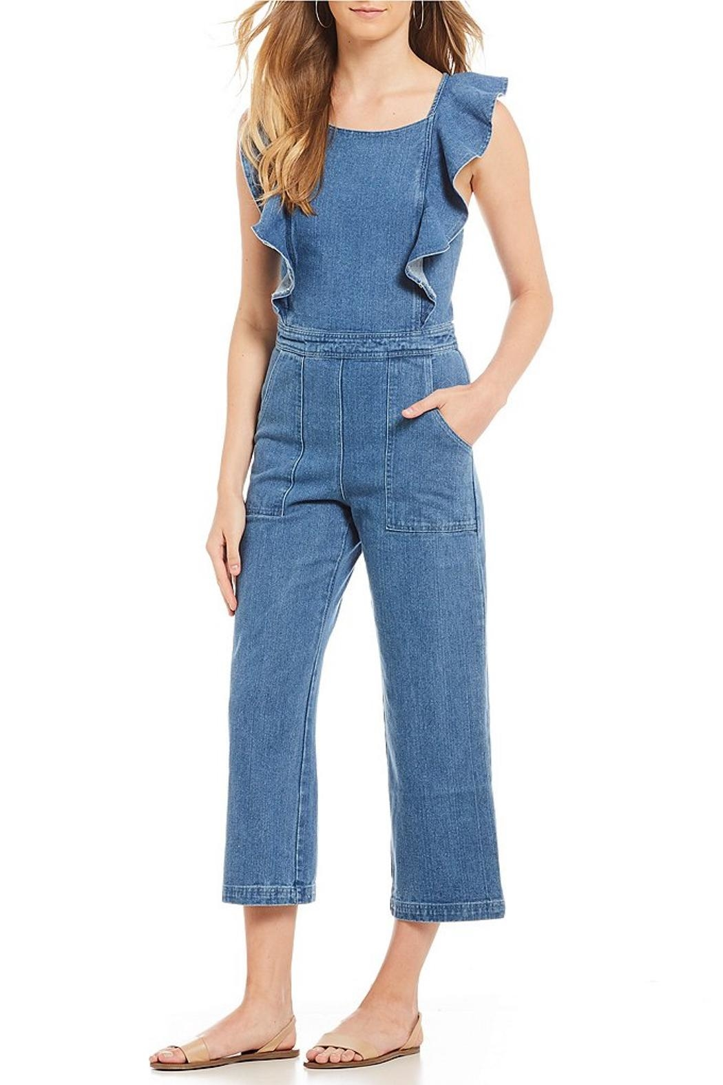 Sugar Lips Denim Jumpsuit - Back Cropped Image
