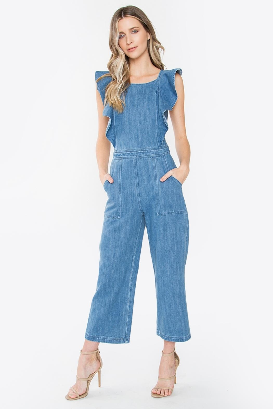 Sugar Lips Denim Jumpsuit - Main Image