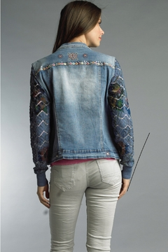 Tempo Paris Denim Knit Jacket - Alternate List Image