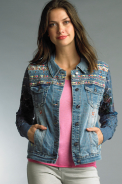 Shoptiques Product: Denim Knit Jacket