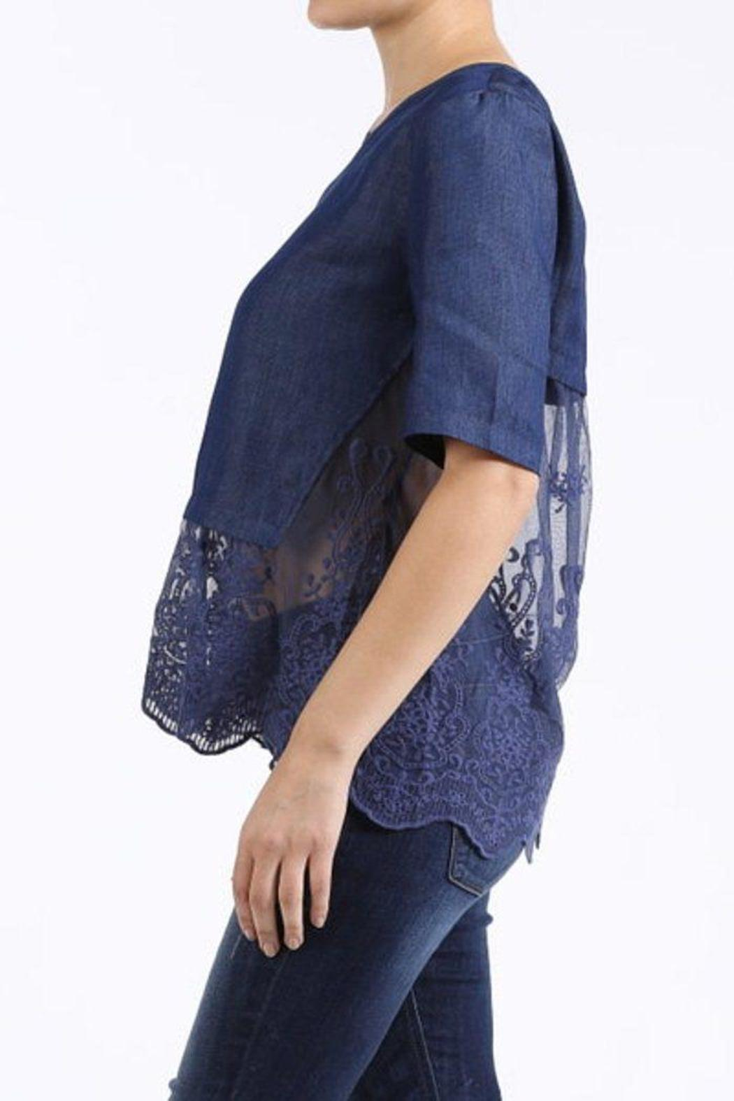 Denim Lace Blouse 79