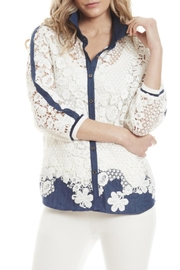 Alberto Makali Denim Lace Shirt - Product Mini Image