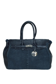 Bevini Modena Denim Leather Satchel - Product Mini Image