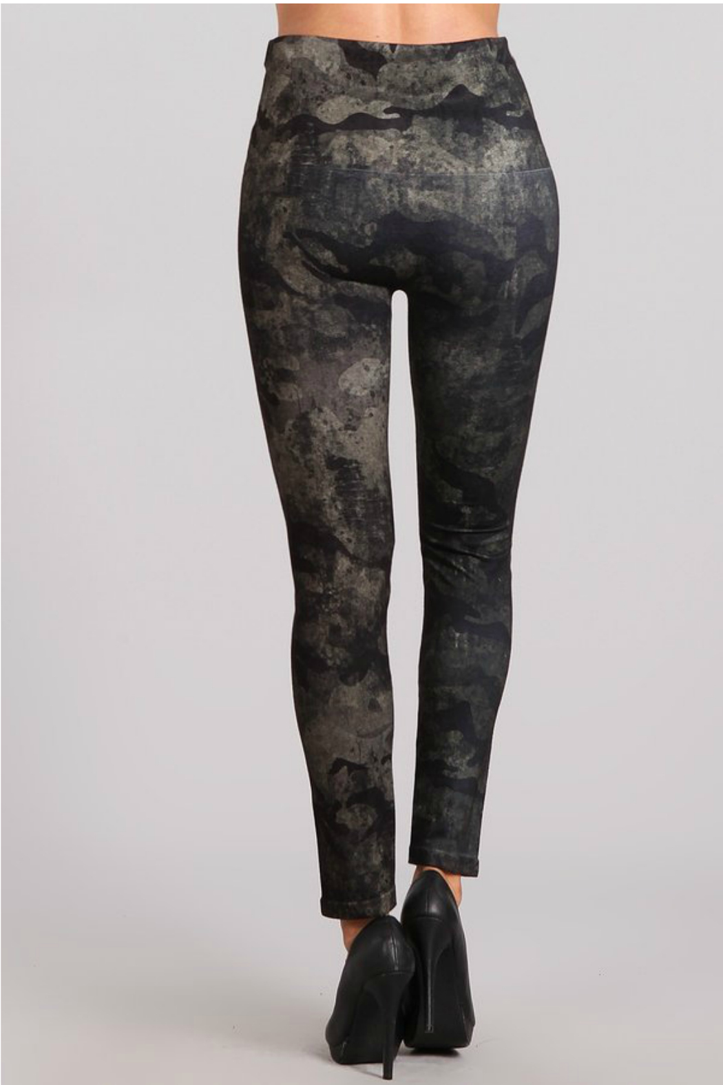 bafc90e8141d1f M. Rena Denim Legging with Distressed Camo Sublimation Print - Side Cropped  Image