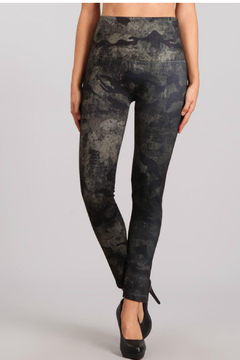 M. Rena Denim Legging with Distressed Camo Sublimation Print - Product List Image