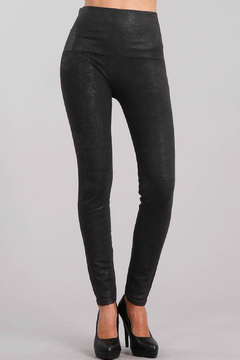 M-Rena  Denim Leggings with Glitter Sublimation Print - Product List Image