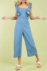 Pretty Little Things Denim Midi Jumpsuit - Product Mini Image