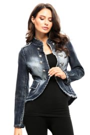 Adore Denim Military Jacket - Front cropped