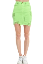 Vibrant Denim Mini Skirt - Product Mini Image