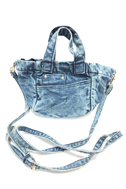 America and Beyond Denim Mini Tote - Front cropped