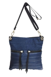 Sondra Roberts Denim/ Nylon N/S Crossbody Messenger - Product Mini Image