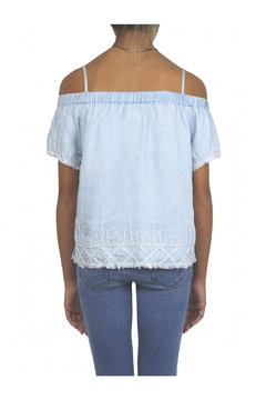 Tractr Denim Off-Shoulder Top - Alternate List Image