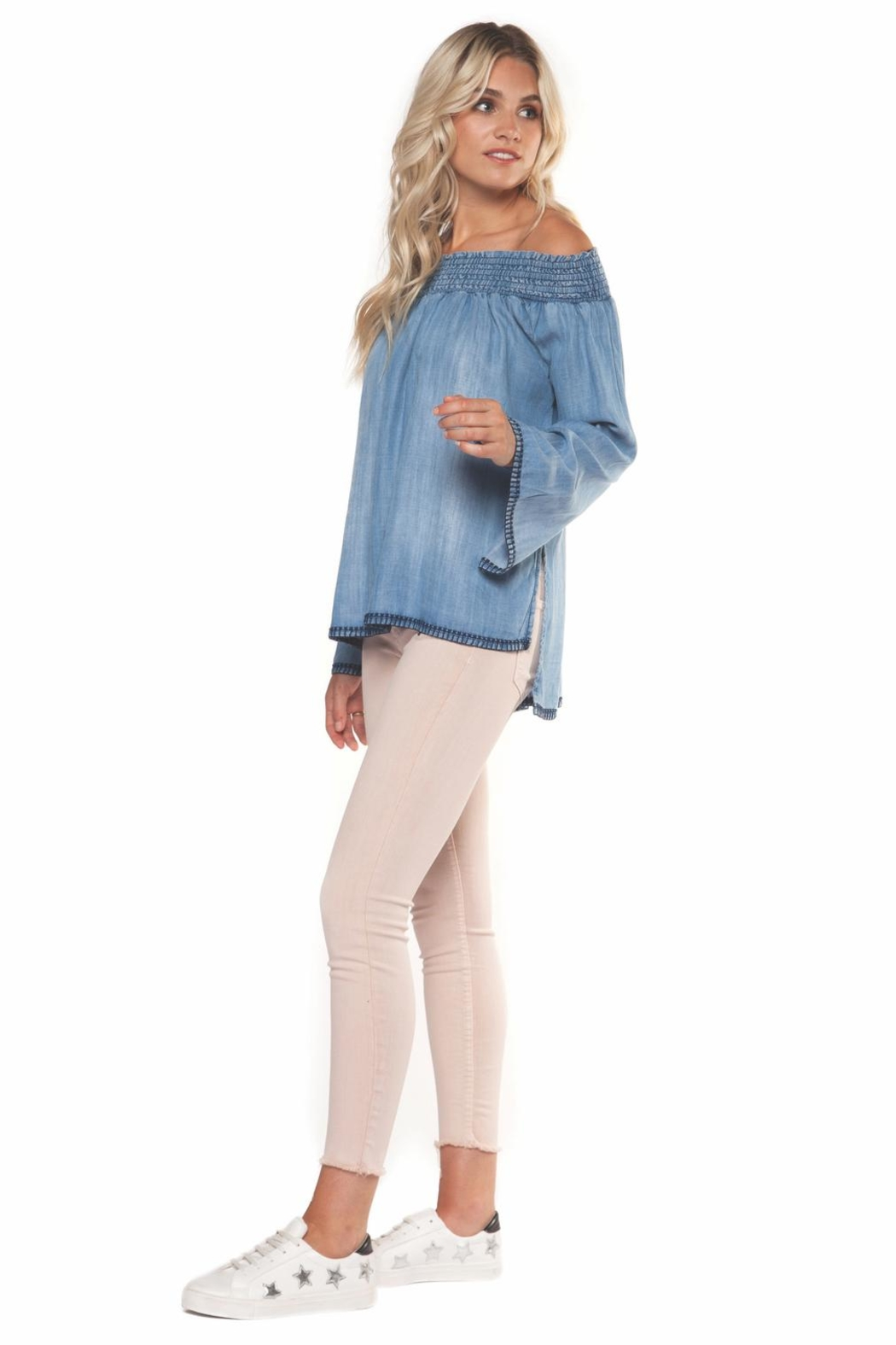 Dex Denim Off-Shoulder Top - Main Image