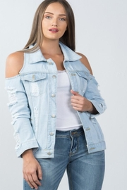 36 POINT 5 Denim Open-Shoulder Jacket - Product Mini Image