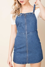 Wild Honey Denim Overall Dress - Product Mini Image