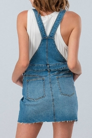 Pretty Little Things Denim Overall Dress - Front full body