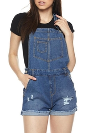 Pretty Little Things Denim Overall Shorts - Product Mini Image