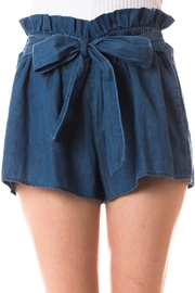 Love Tree Denim Paperbag Tie_shorts - Product Mini Image