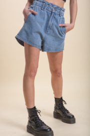 Emory Park Denim Paperbag Waist Short - Side cropped