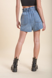 Emory Park Denim Paperbag Waist Short - Other