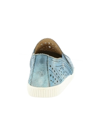 Earth Denim Perforated Sneaker - Front full body