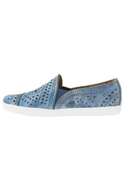 Earth Denim Perforated Sneaker - Front cropped