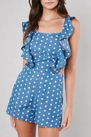 Do & Be Denim Polkadot Romper - Product Mini Image
