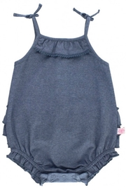 Ruffle Butts Denim Pom Pom Bubble - Front cropped