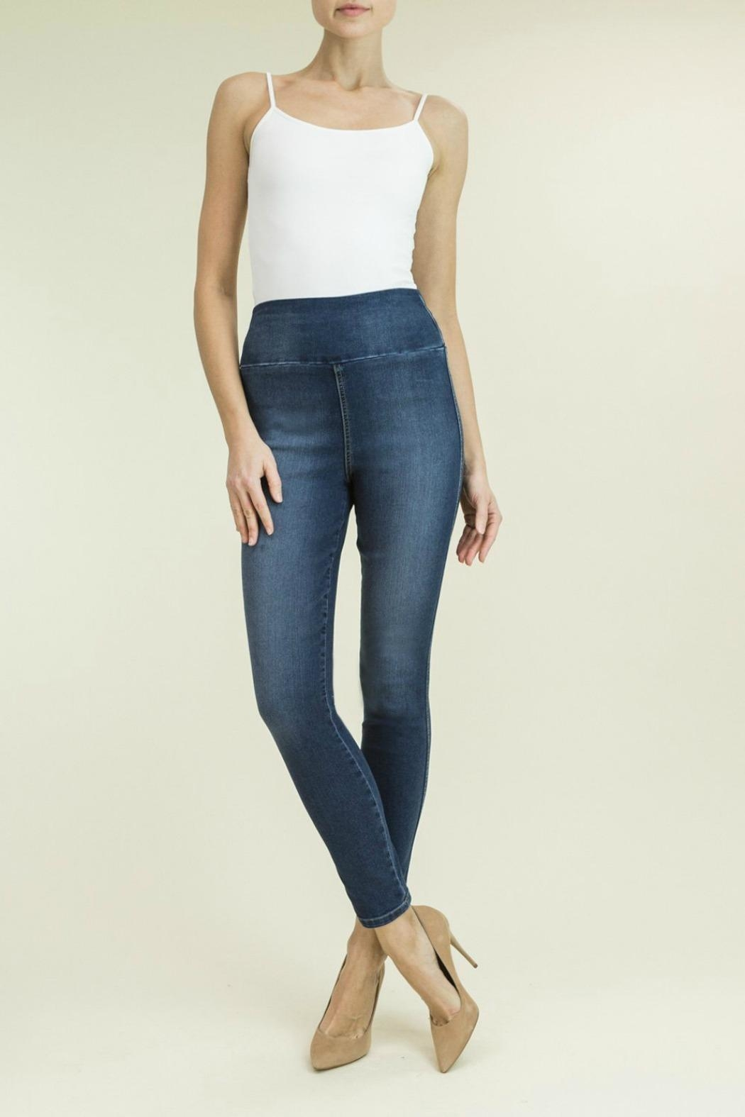 Level 99 Denim Pull-On Pant - Front Cropped Image