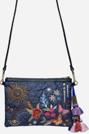 Johnny Was Denim Quilted Cross Body Bag - Product Mini Image