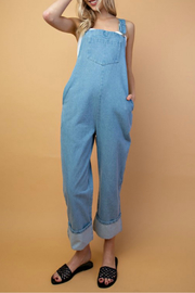 lelis Denim rolled overalls - Product Mini Image