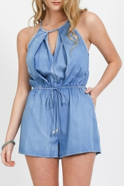 Very J Denim Romper - Product Mini Image