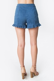 Sugarlips Denim Ruffle Shorts - Side cropped