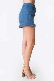 Sugarlips Denim Ruffle Shorts - Front full body
