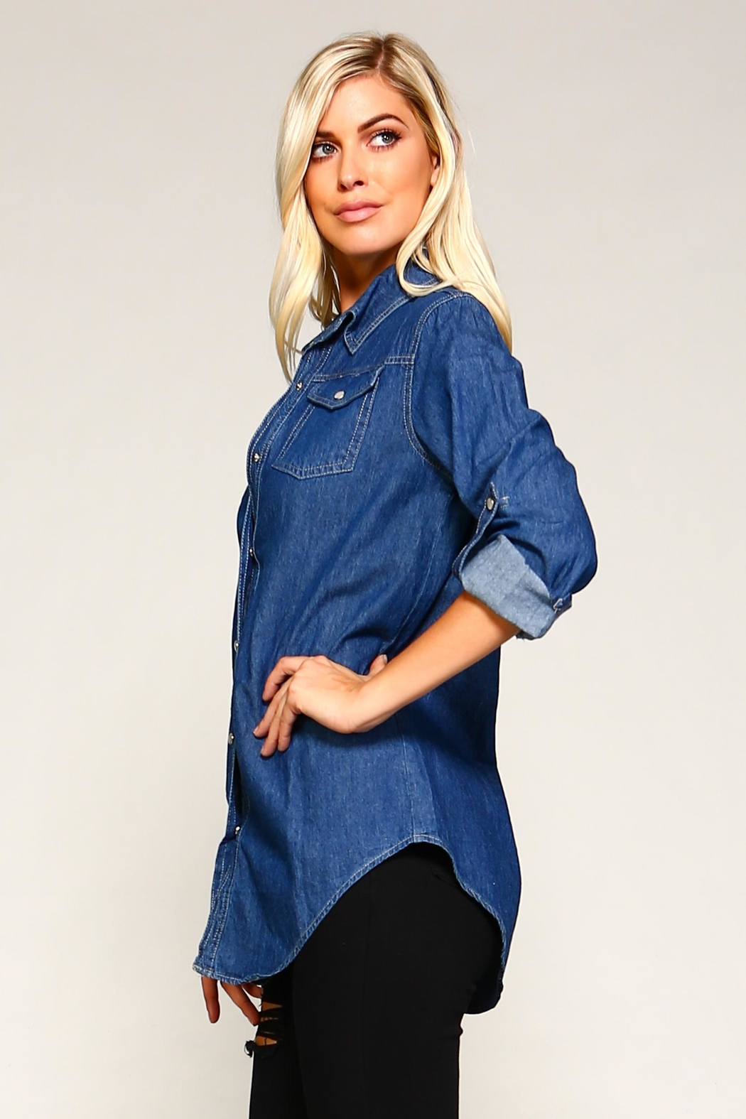 Racine Denim Shirt - Back Cropped Image