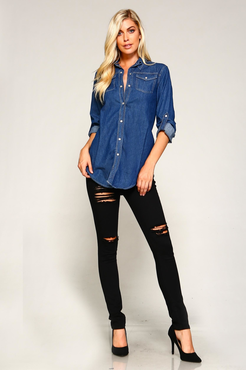 Racine Denim Shirt - Front Full Image