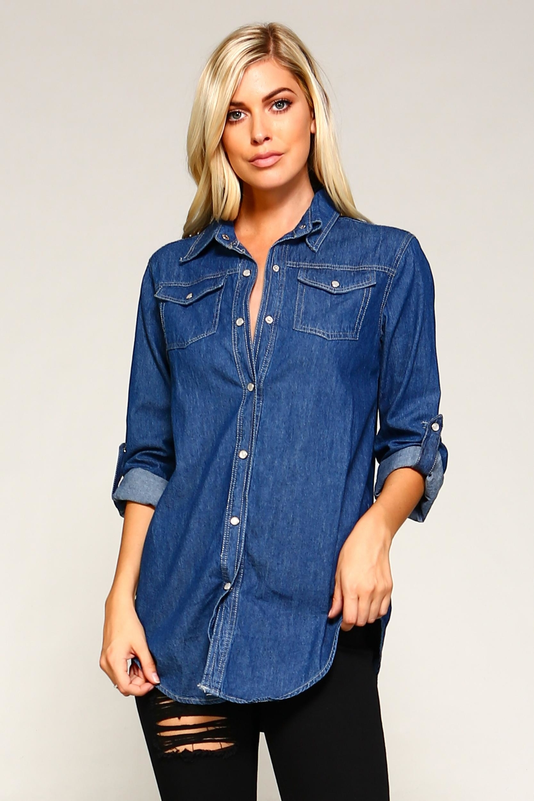 Racine Denim Shirt - Side Cropped Image