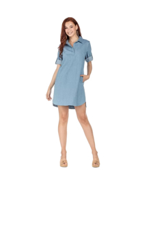 Joy Joy Denim Shirt Dress - Alternate List Image