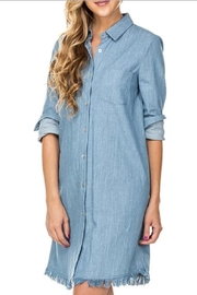 Joy Joy Denim Shirtdress - Product Mini Image