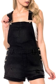 Love Tree Denim Short Overalls - Front cropped