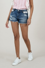 Molly Bracken Denim Shorts With Lace Detail - Product Mini Image