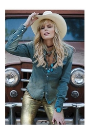 H Bar C Ranchwear Denim Snap Shirt - Product Mini Image