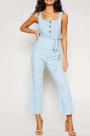 Sadie & Sage Denim Stripe Jumpsuit - Product Mini Image