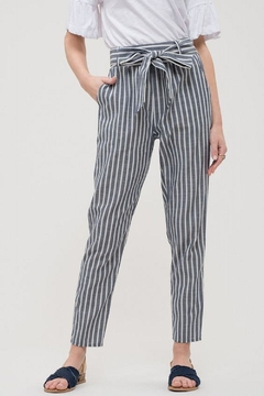 Blu Pepper Denim Stripe Pants - Product List Image
