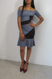 MODChic Couture Denim Swirl Dress - Front cropped