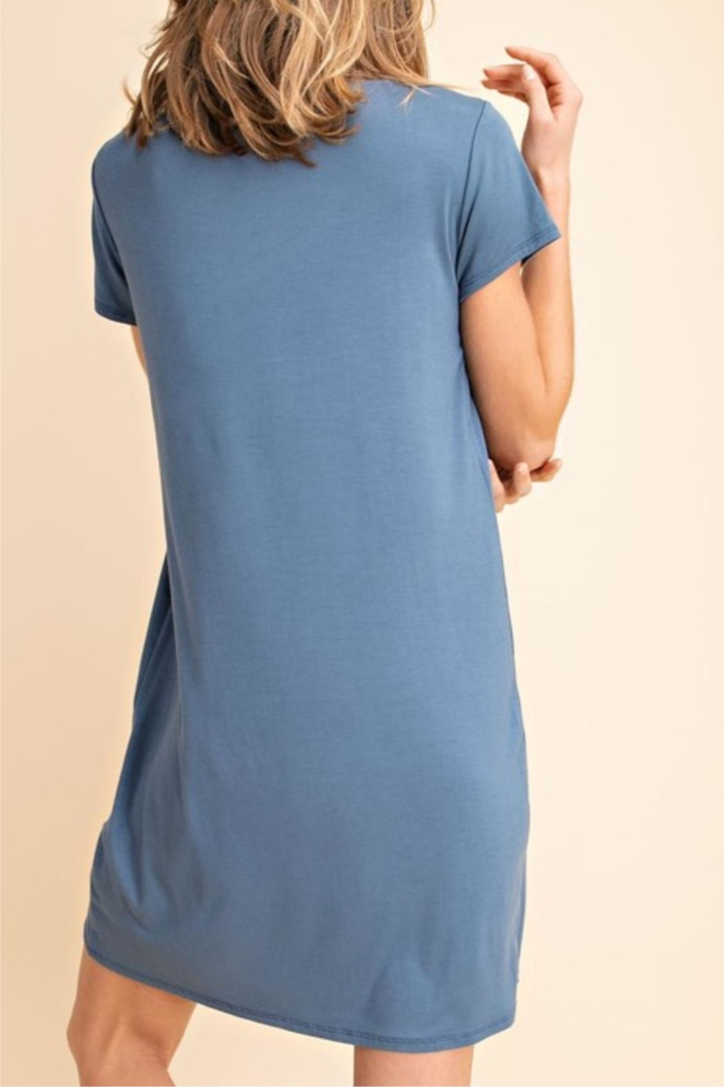 Mittoshop Denim T-Shirt Dress - Side Cropped Image