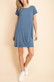 Mittoshop Denim T-Shirt Dress - Front cropped